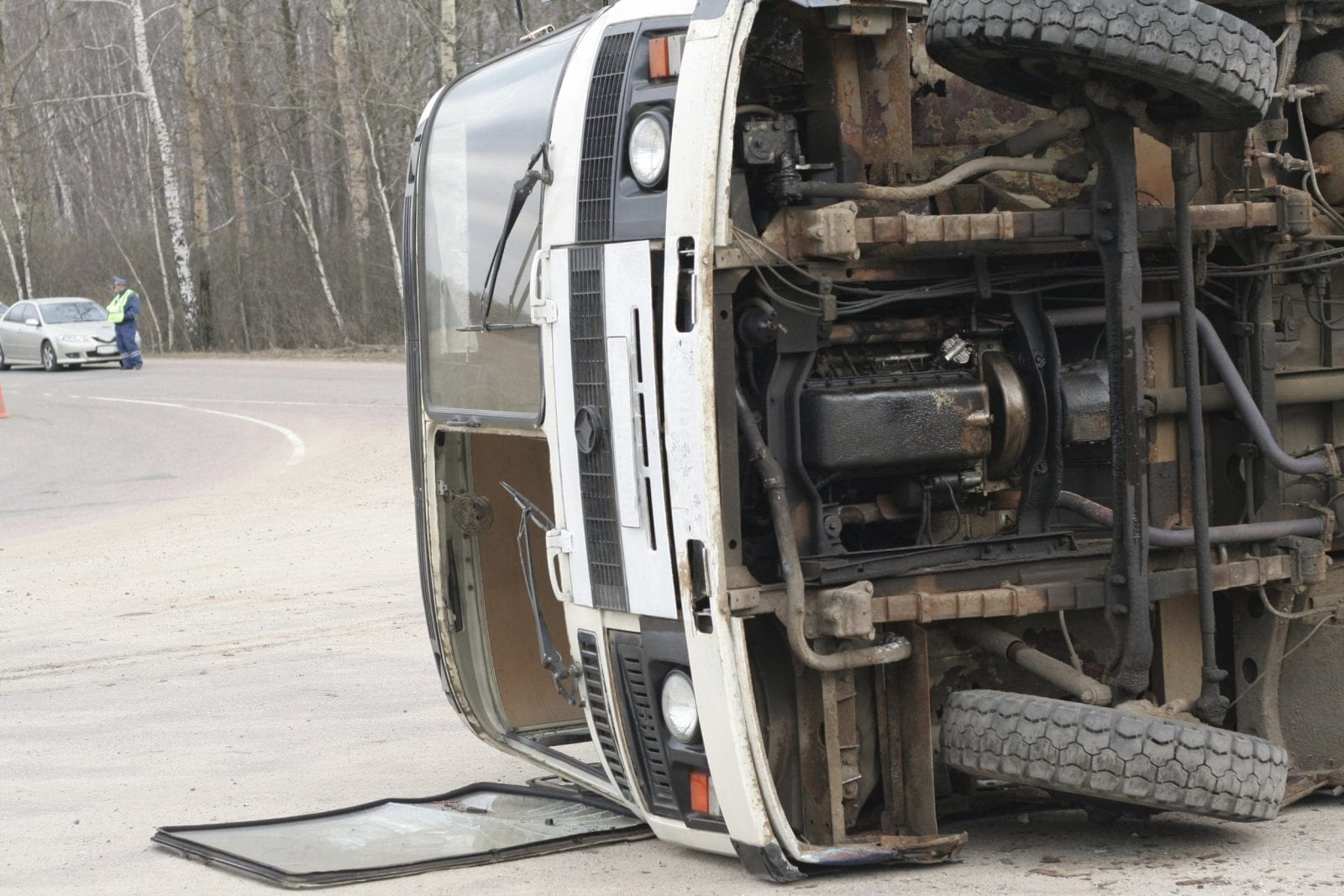 Truck Accident Stock Photo. Odessa Auto Accident Attorney Looks At Issues Raised By Tragic Bus Accident