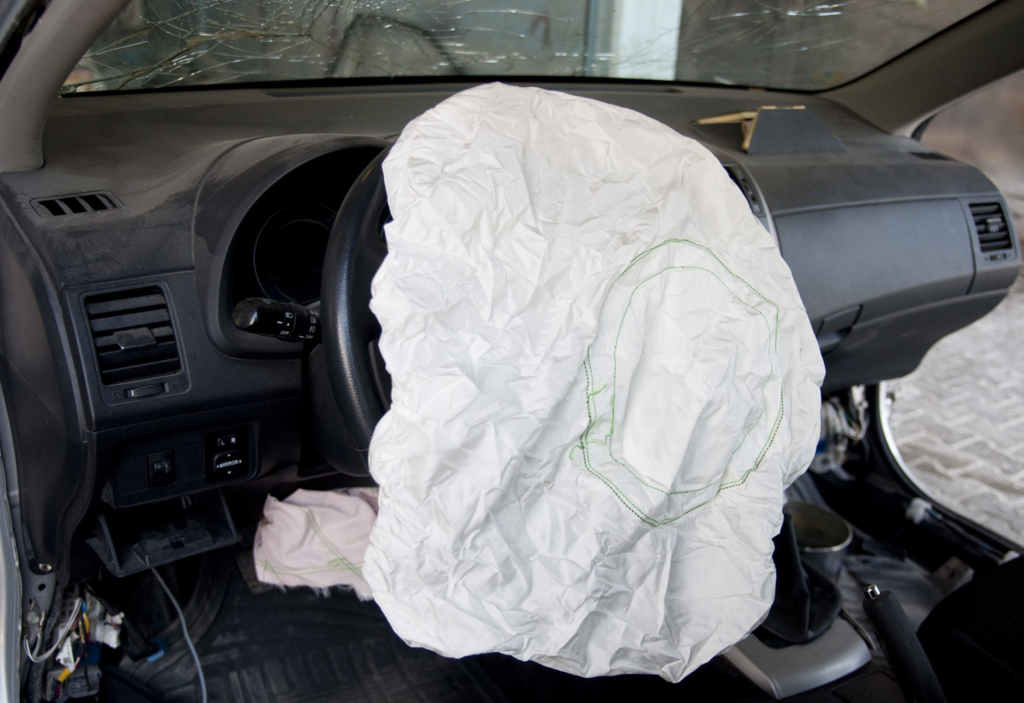 Airbag after an accident