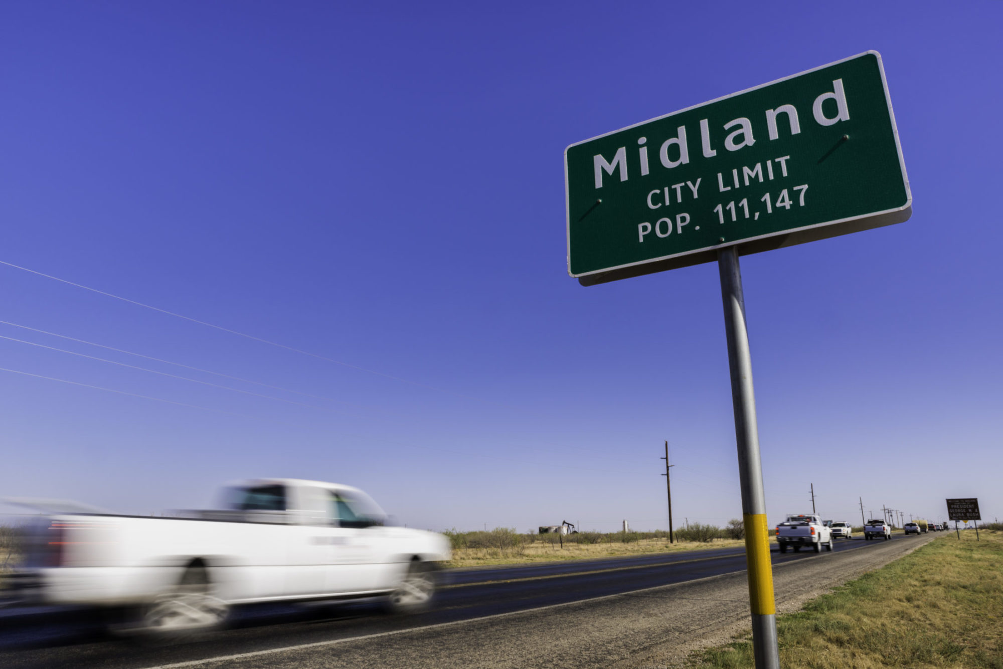 Midland, Texas city limit sign