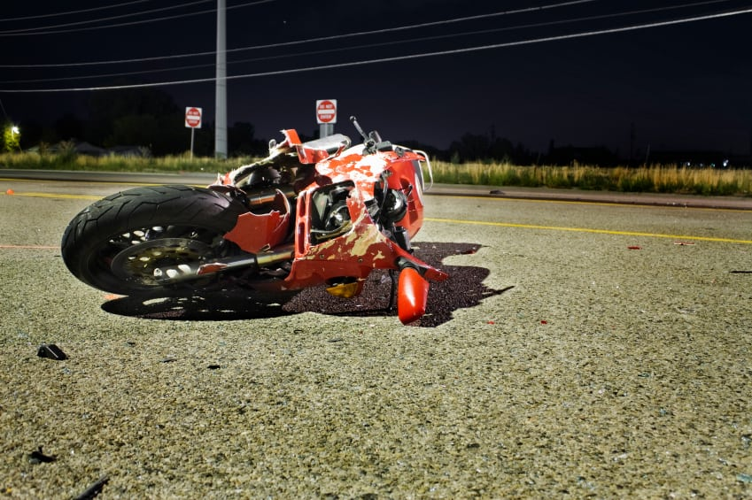 Motorcycle Accident Stock Photo. Auto Accident Attorney Discusses Odessa Area Wreck Involving Motorcycle