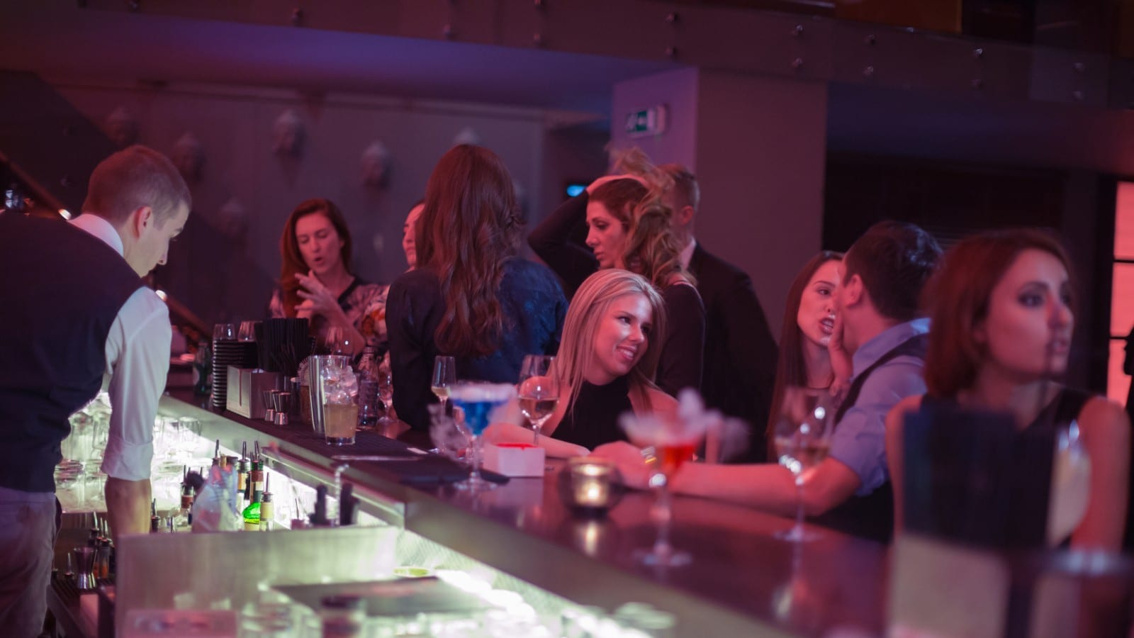 Busy Bar Stock Photo