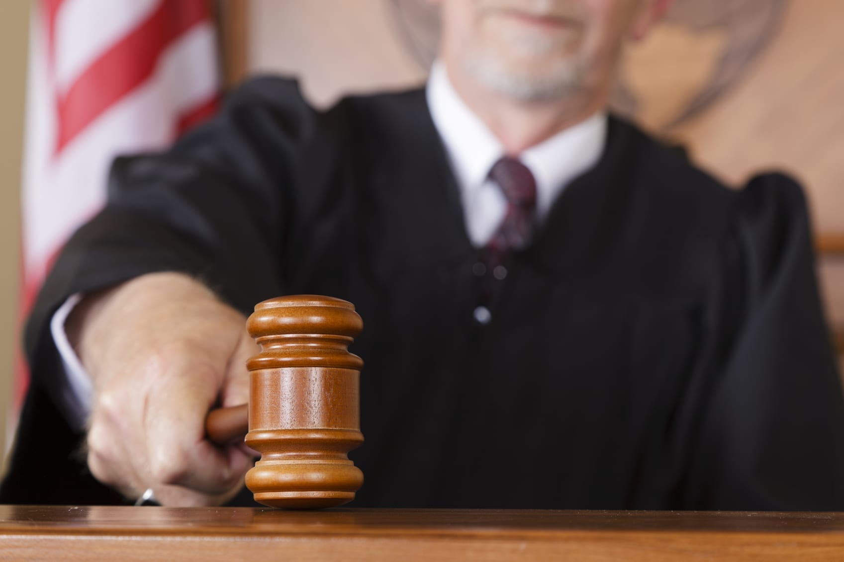 Attorney Gavel Stock Photo - Car Accident Case Goes to Trial