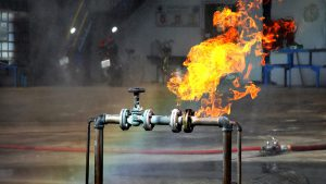 Oil and Gas Fire Stock Photo