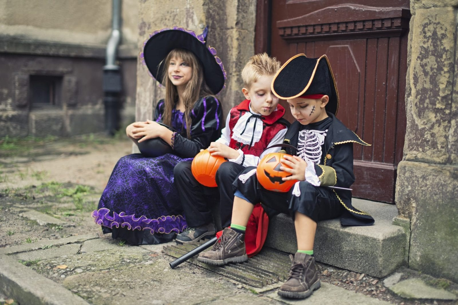 Kids Halloween Stock Photo