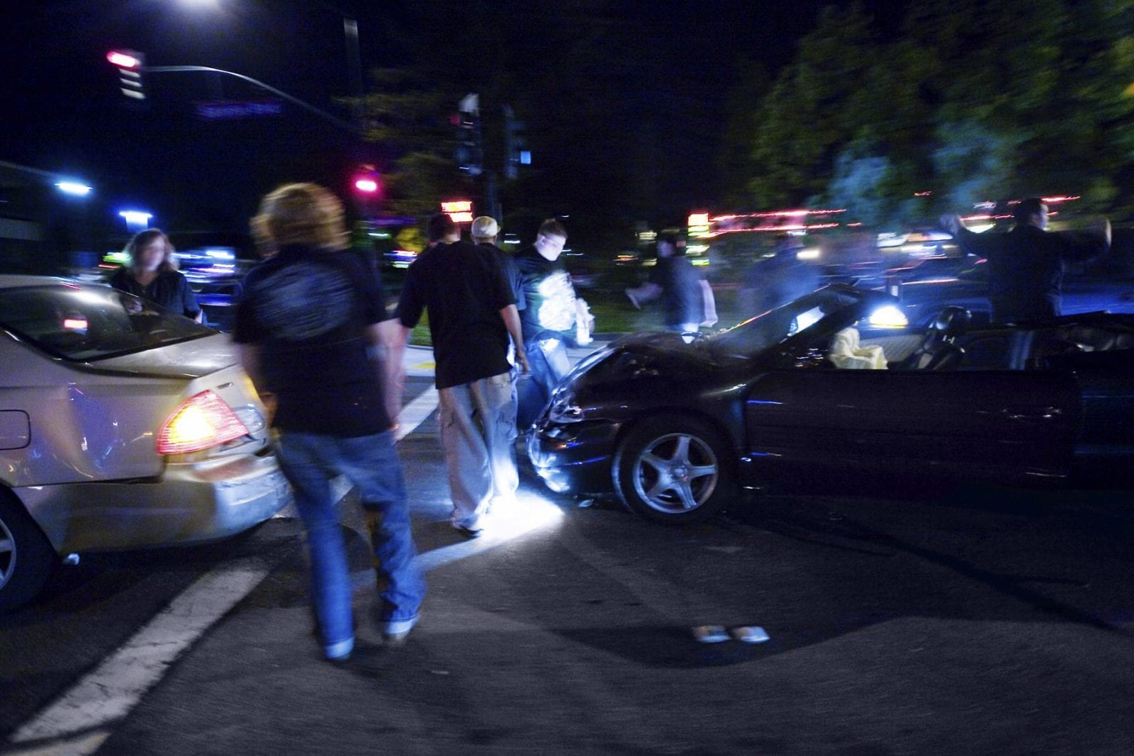 Car Accident At Night Stock Photo. Odessa Car Accident Lawyer Notes Details Of Midland Crash