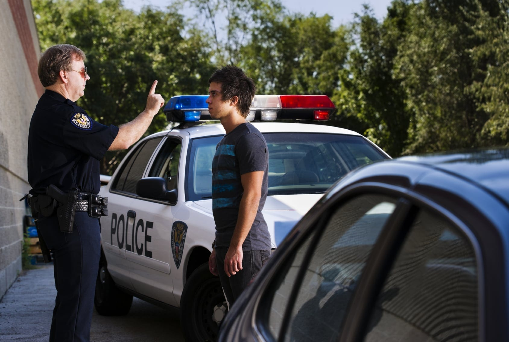 Police Officer DUI Test Stock Photo