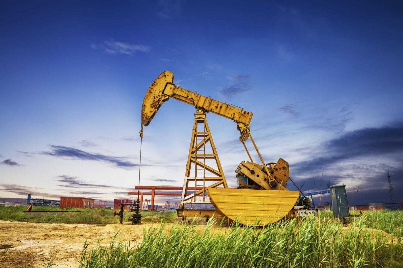 Oil Field Accident Stock Photo