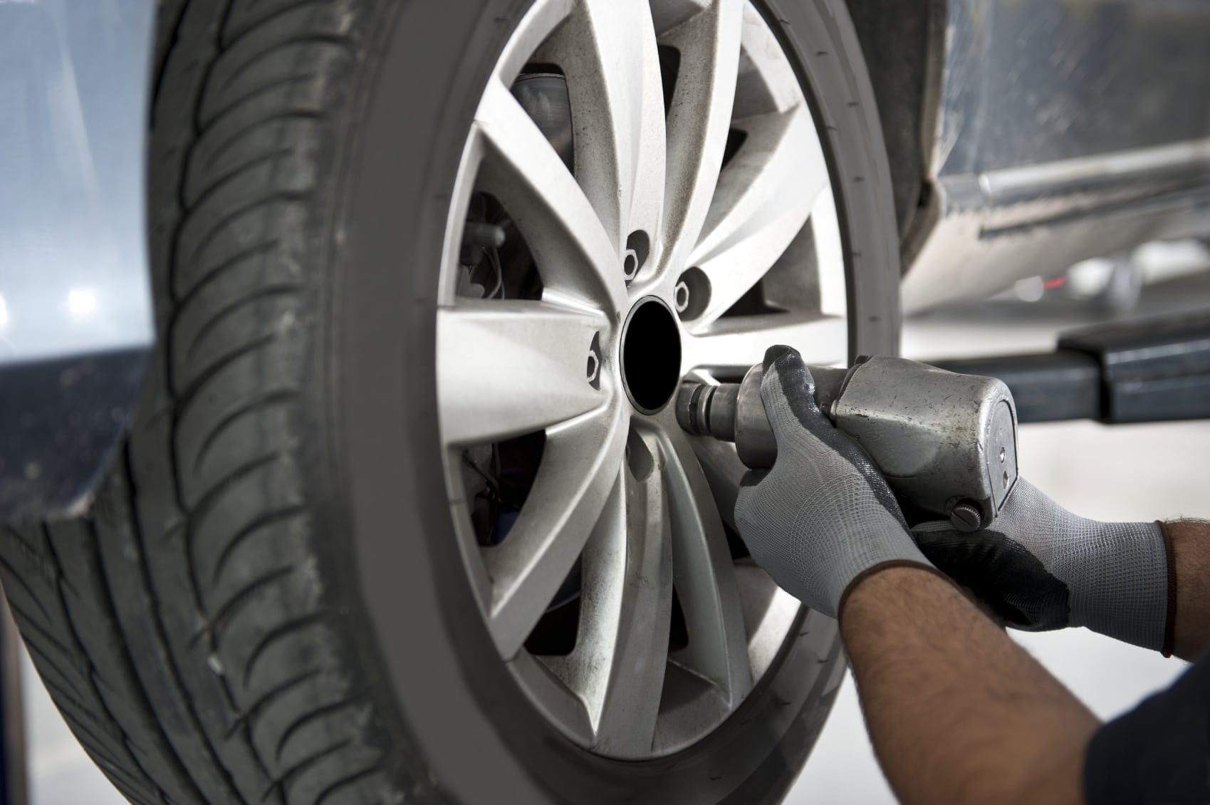 Tire Replacement Stock Photo