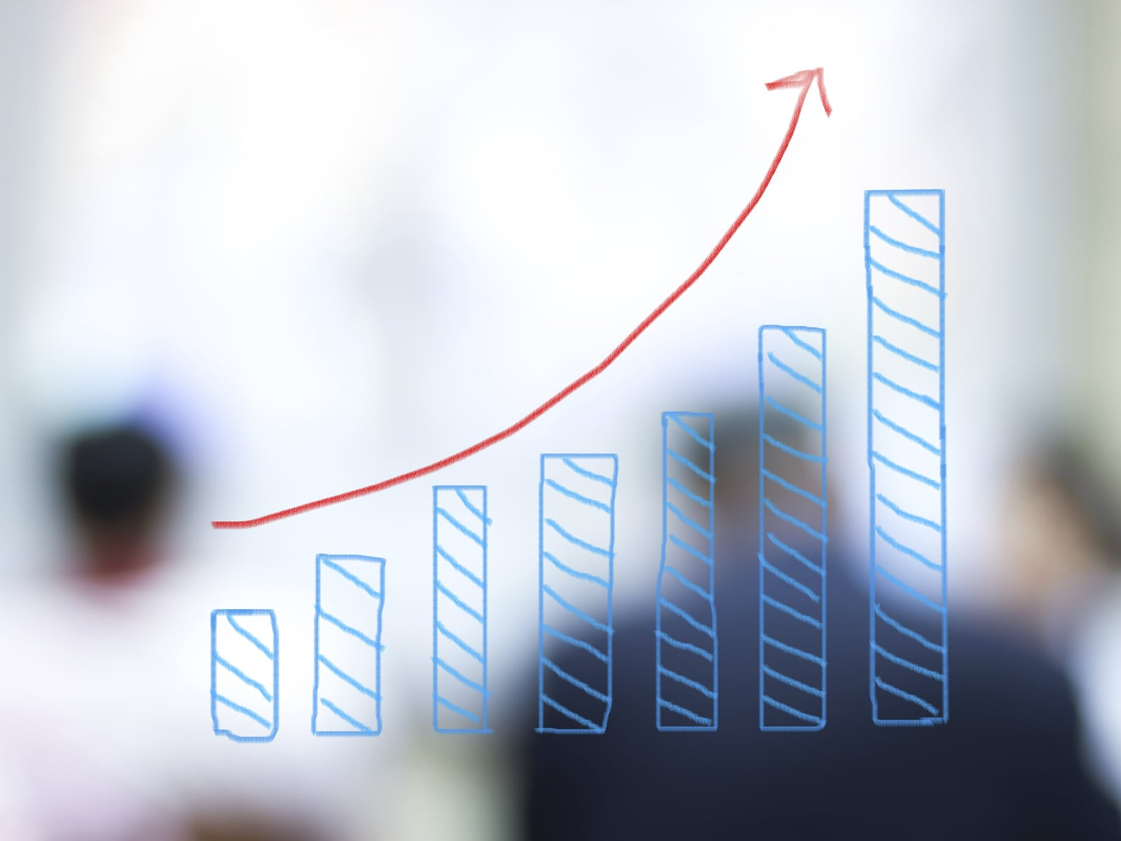 Upward Trend Graph Stock Photo
