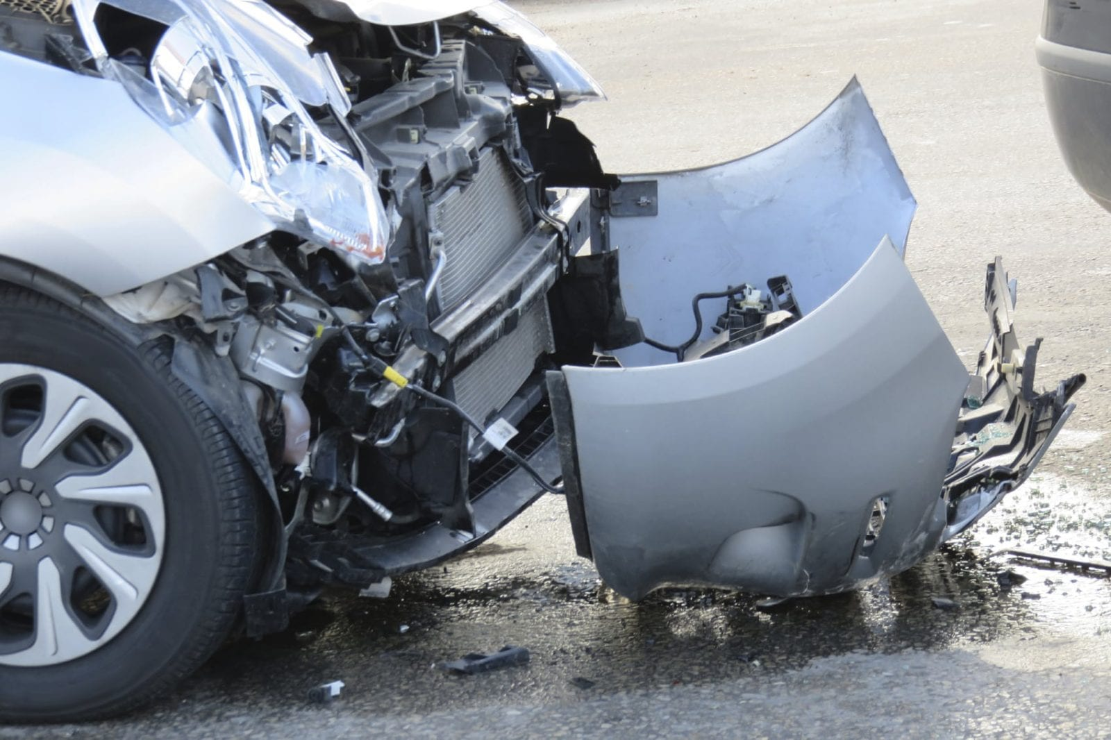 Car Accident - Front End Damage Stock Photo. Odessa Personal Injury Lawyer Discusses Crash At Midland Area Intersection