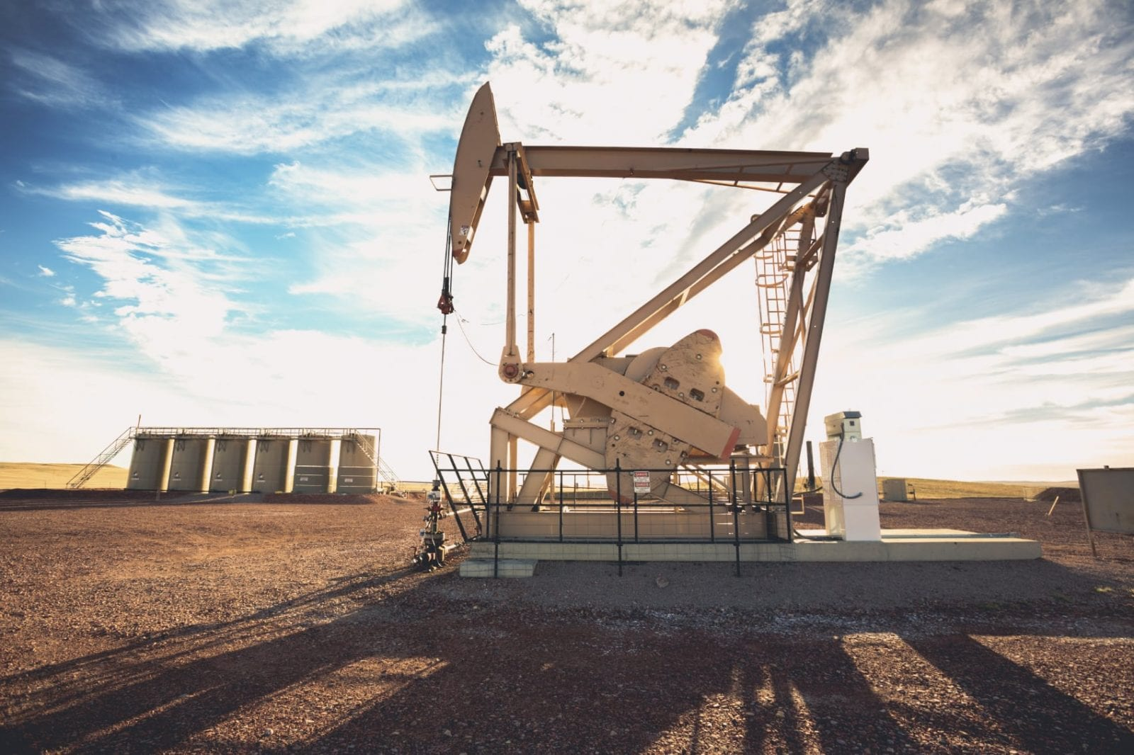 Oil Well / Oil Drilling Site Stock Photo