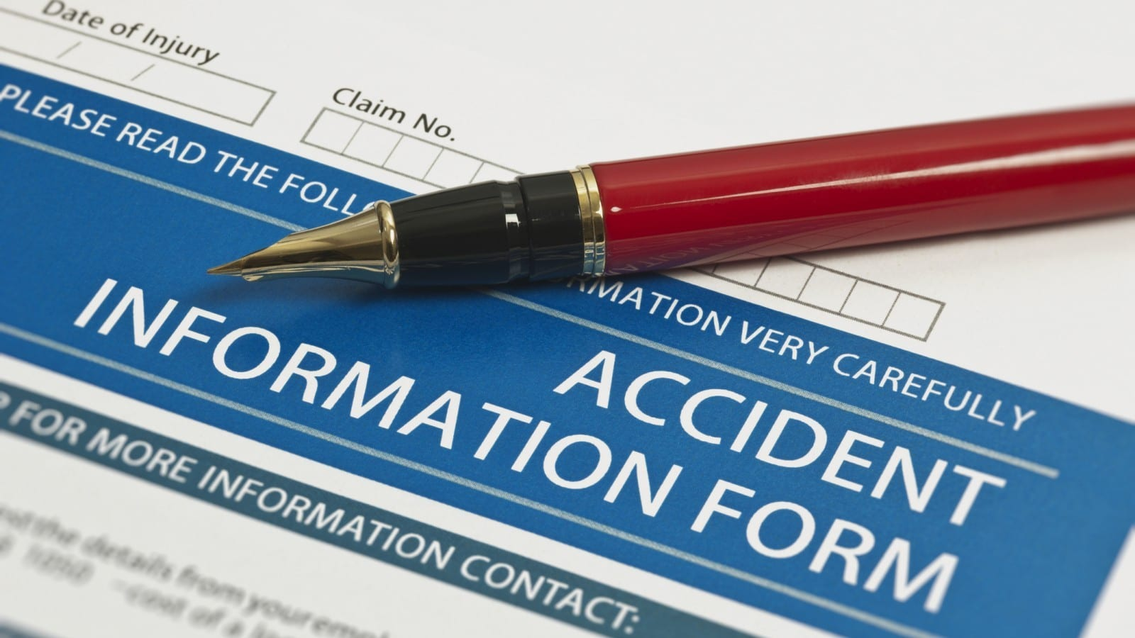 Accident Information Form Stock Photo