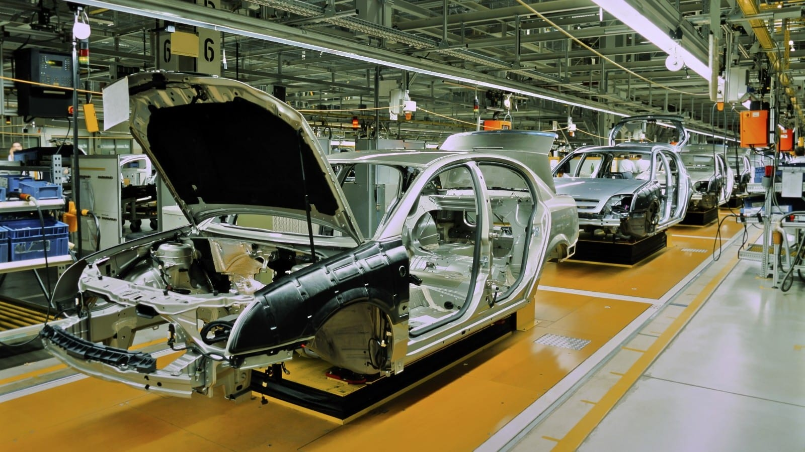Car Assembly Line Stock Photo