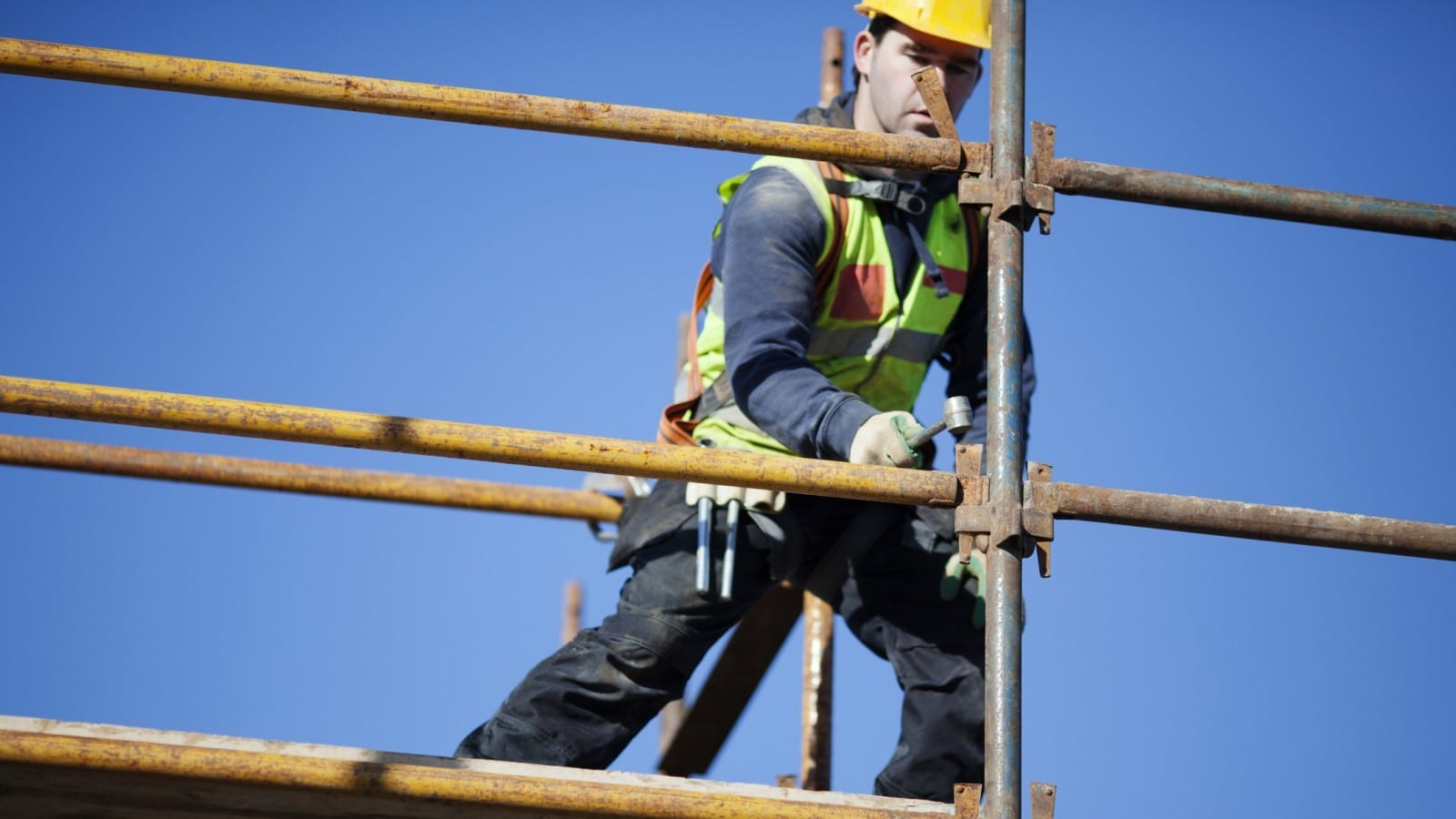 Scaffolding Accident Stock Photo