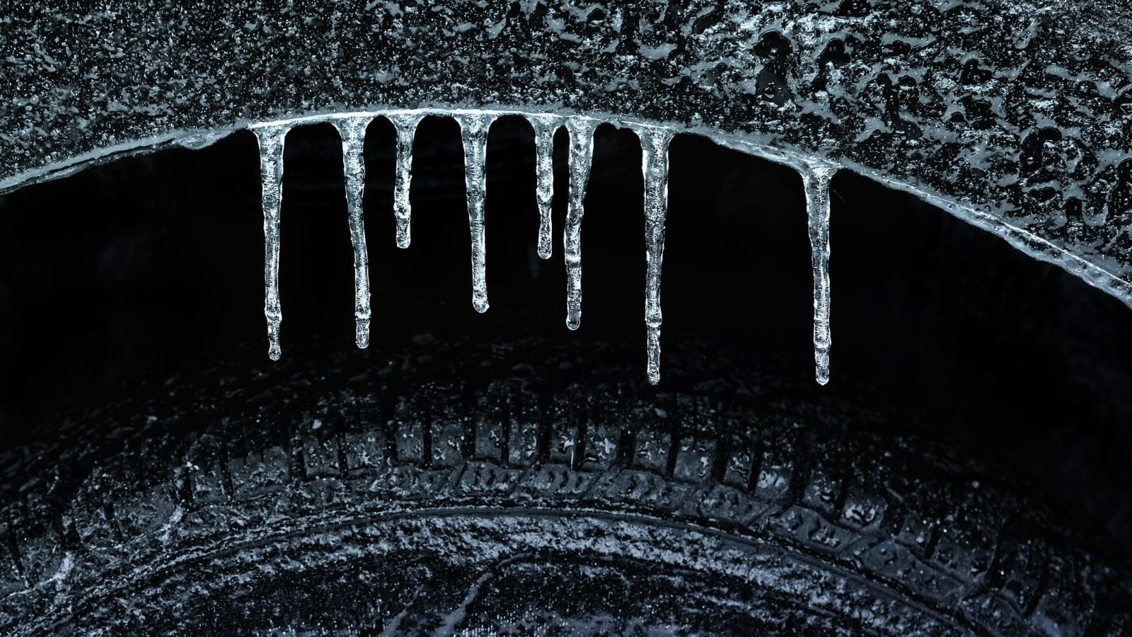 Frozen Wheel Stock Photo