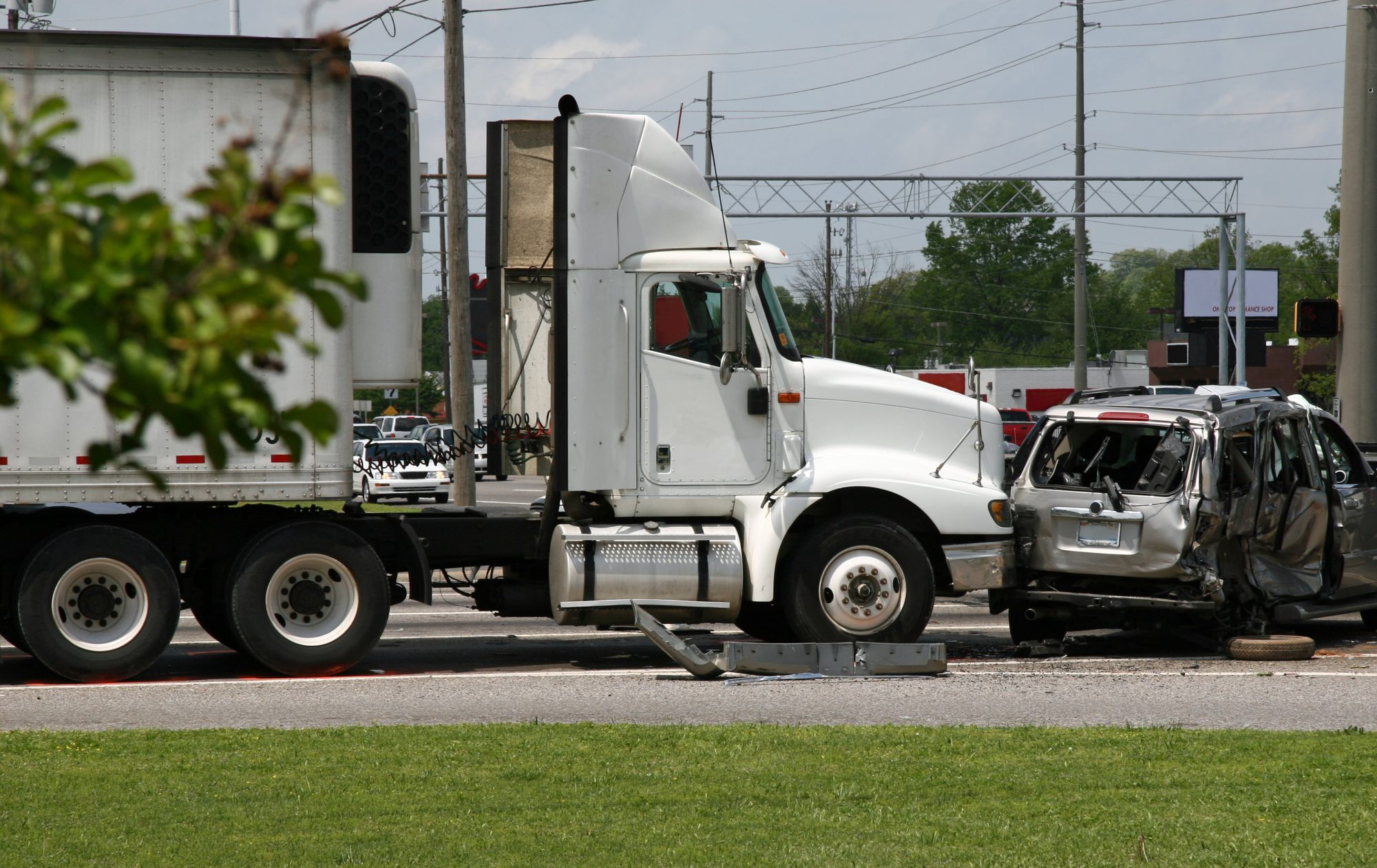 the scene of a truck accident in Odessa, TX